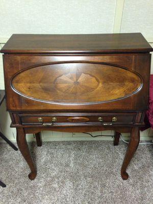 Brown cherry secretary desk for Sale in Bridgeton, MO