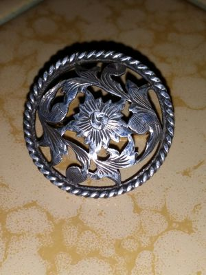 Signed sterling silver bit Concho piece for Sale in Clovis, CA