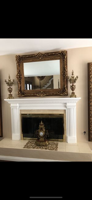 Brevetteto authentic candelabra and mantel clock set for Sale in Poway, CA