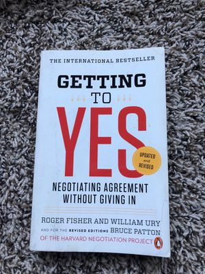 Getting to Yes by Roger Fisher and William Ury for Sale in Baltimore, MD