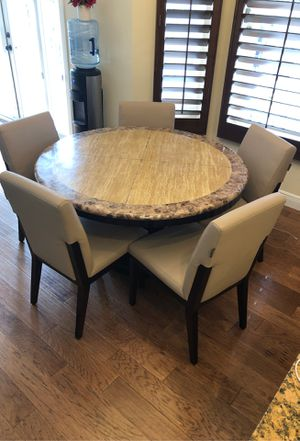Eldorado kitchen table 54 inch round granite with 5 chairs for Sale in VLG WELLINGTN, FL