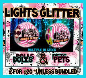 2 lol Glitter lights for Sale in INVER GROVE, MN