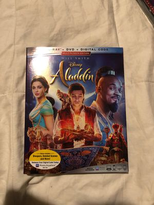 Aladdin 2019 blu Ray-dvd combo pack for Sale in Buena Park, CA
