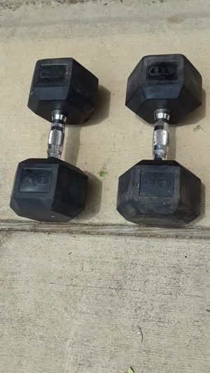 40 pound rubber coated dumbbells for Sale in Fort Worth, TX