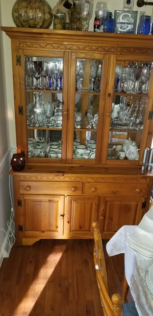 Solid wood dining table and cabinet for sale for Sale in Lynchburg, VA