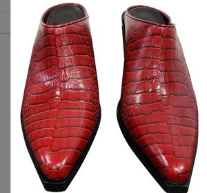 Rag & Bone Red croc-effect leather Mules boots/booties size 71/2 and 9 1/2 for Sale in Chula Vista, CA