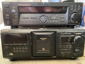 Sony stereo receiver and 400 cd changer for Sale in Hiram, OH