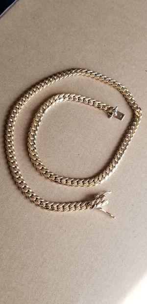 14k Solid Gold Miami Cuban Chain w/Diamond Clasp for Sale in Arlington Heights, IL