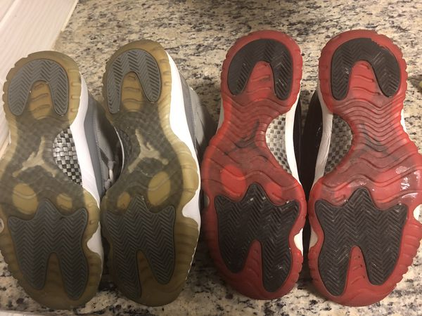 Jordan 11 Bred and Cool Grey in Good conditions