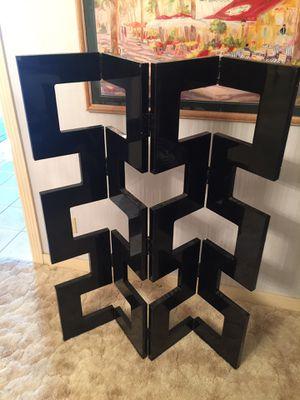 Retro Contemporary Laminate and Wood Decorative Folding Screen for Sale in Ada, OK