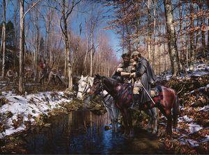 "A John Paul Strain Civil War Painting- ""The Old Railroad Wrecker"" for Sale in Bolivar, WV"