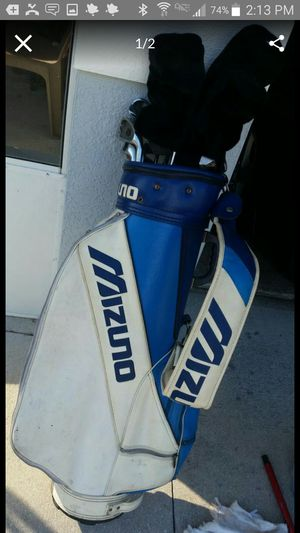 Leather Mizuno Golf Bag + KNIGHT Clubs for Sale in Lehigh Acres, FL