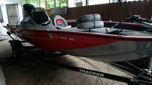 2015 bass tracker boat and trailer for Sale in San Antonio, TX