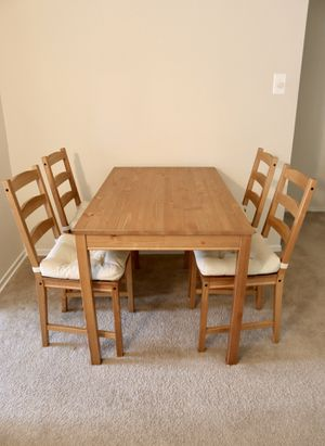 IKEA dining table and chairs set for Sale in Alexandria, VA