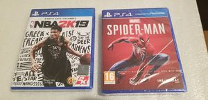 New Sealed NBA 2K19 & SPIDER-MAN PS4 for Sale in Crofton, MD