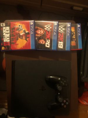 PlayStation 4 with 4 games included for Sale in Orlando, FL