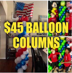 Tween Balloon artists Balloon Towers Birthday (waterslide, mask, party, tables) for Sale in Pearland, TX