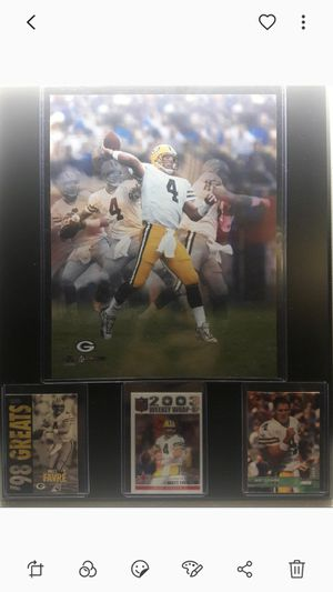 Greenbay packers Brett Favre plaque for Sale in CTY OF CMMRCE, CA