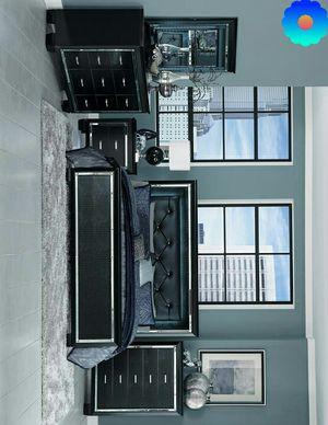 Seattle Black LED Queen Panel Bedroom Set | ask king size bedroom set for Sale in Fort Worth, TX