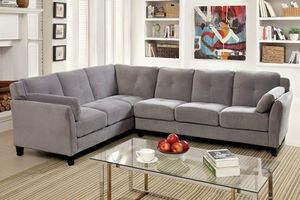 Grey sofa sectional couch/No Credit Needed No Credit Check Apply Today for Sale in Downey, CA