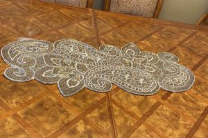 Gold Christmas Poinsettia Table Runner for Sale in Los Angeles, CA