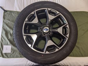 HUGE BARGAIN! 2018 Crosstrek OEM 17-in Wheels with Yokohama Geolandar G91 225/60R17 Tires for Sale in Saint Robert, MO