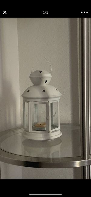 White small lantern for Sale in Antioch, CA