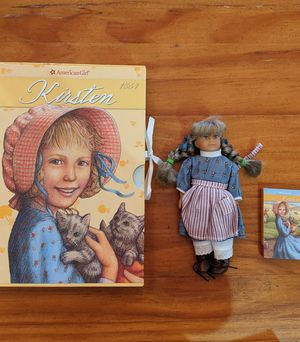 American Girl book set with mini doll for Sale in Edmond, OK