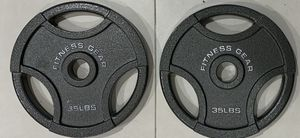 Brand new pair of 35lbs Olympic weight plates, priced to sell. Reasonable offers considered. Par de discos de pesas de 35 lbs for Sale in Palmetto Estates, FL