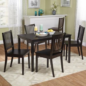 5pc dining table set solid wood new for Sale in Houston, TX