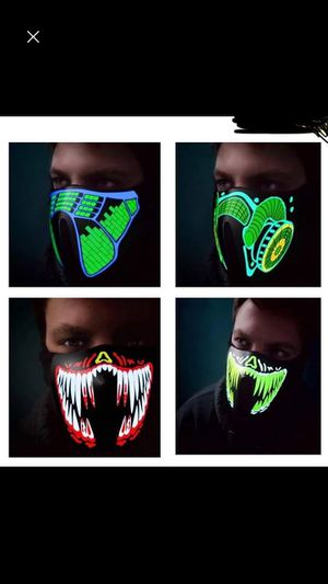 Led music and voice activated masks for Sale in Tustin, CA
