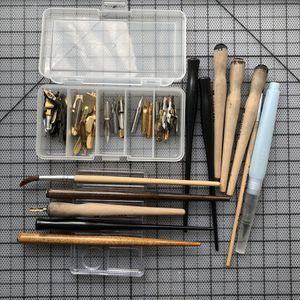 calligraphy pen holder nib set speedball memory for Sale in San Francisco, CA