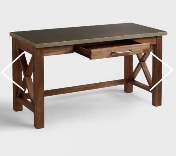 World Market Wood Farmhouse Desk Amp Bookshelf For Sale In