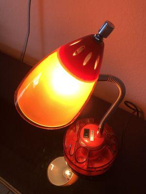 Red desk lamp , great condition multi use for Sale in Miami, FL