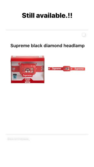 Supreme black diamond headlamp for Sale in Santa Maria, CA