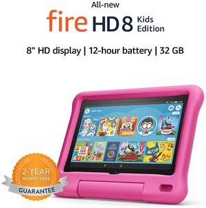 Amazon Fire HD 8 Kids Edition Tablet, Pink, 32GB for Sale in Los Angeles, CA