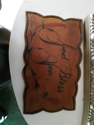 Custom carved wooden plaque for Sale in Spout Spring, VA
