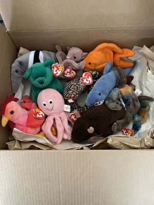 Original Beanie Babies w/ tags (2 for 10 or all for30) Great for little kids for Sale in Spring Hill, FL