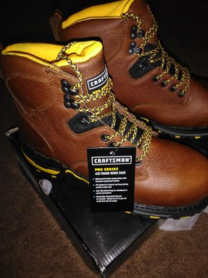 CRAFTSMAN BOOTS STEEL TOE WATERPROOF SLIP OIL PRO SERIES HAVY DUTY NEW ALL SIZE AVAILABLE ONLY 65 for Sale in Compton, CA