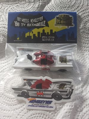 Hot Wheels Newsletter Convention Batmobile and Sticker $100 obo for Sale in Monrovia, CA