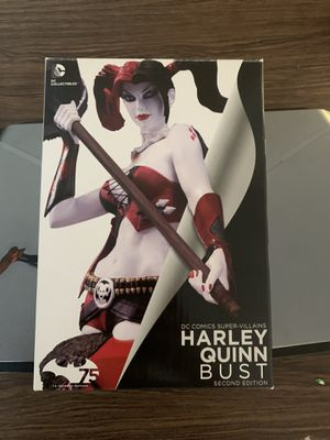 Dc Comics Super Villains Harley Quinn Bust Statue 2nd Ed Collectibles for Sale in Norwalk, CA