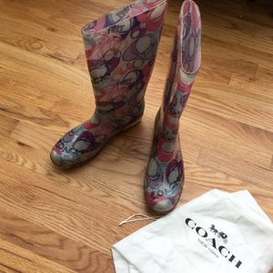 Coach Rain boots Size 10 for Sale in Tacoma, WA