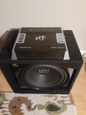 1000 watt Polk Audio Sub and 1000 watt Hifonics Amp for Sale in Milford Mill, MD