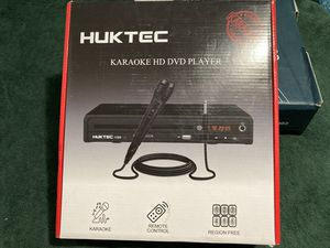New in box DVD Player, Home DVD Players for TV Region Free DVDs 1080p Full HD Compact CD/DVD Player with Karaoke Microphone, Multi-Functional Player for Sale in Palmdale, CA