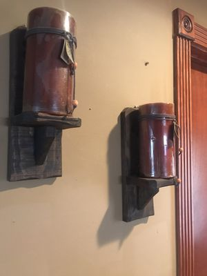 Two wood candles holder-$20 both firm-Kendall for Sale in Miami, FL