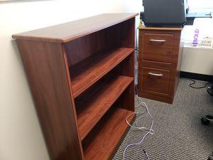 3-Shelf Bookcase & 2-Drawer File Cabinet for Sale in Snellville, GA