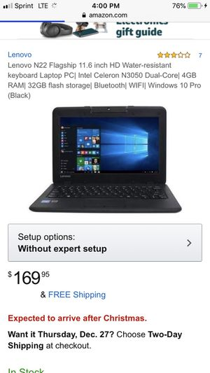 Laptop Lenovo N22 $110cash for Sale in Whitehall, OH