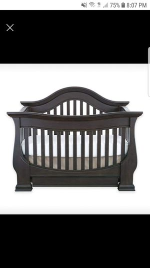 4 for sale  1 davenport baby crib to toddler to full armoir ,hutch,bookshelf for Sale