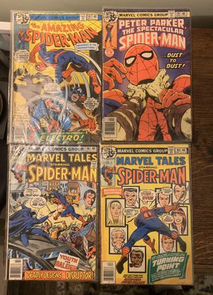 (4) MARVEL'S SPIDERMAN COMIC BOOKS IN ORIGINAL PROTECTIVE PACKAGING NEVER OPENED GREAT CONDITION NO TRADES for Sale in Middleburg, PA