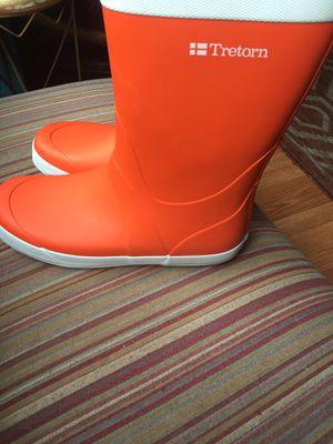 Tretorn Orange Rubber Boots for Sale in Dana Point, CA
